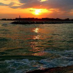 #sunset #sun #sea #beach #italy #caorle