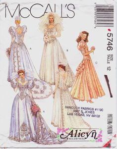 1992 McCalls Pattern 5746 Alicyn Exclusives Womens by CloesCloset, $20.00