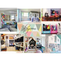 Playroom 2 ZR by naala-art on Polyvore featuring polyvore, interior, interiors, interior design, home, home decor and interior decorating