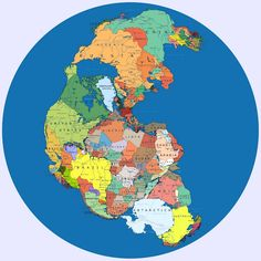 Pangea With Current Borders