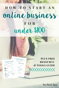 Are you a stay-at-home mom who has been considering starting your own online business to make money? If you've been nervous about the upfront costs, you don't need to be! Click through to find out how you can start your online business for under $100 PLUS get your FREE resource & tools guide!