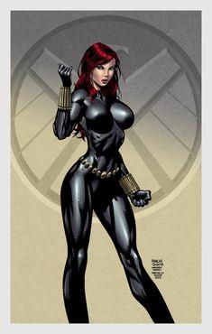 Black Widow by David Finch, Walden Wong, and Kristherion.deviantart.com on @deviantART