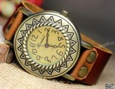 Women Wristwatch Leather Folk Watch..