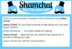 A conversation between Jesus Christ and Arthur Kirkland