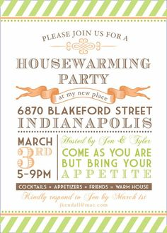 housewarming party invitation by papercloudstudios on etsy, $11.00, Party invitations