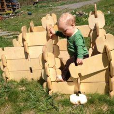 jeu de construction taille réelle en bois, idée cadeau de noël