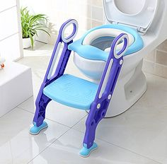 eb01c6ca25 Potty Toilet Trainer Seat with Step Stool Ladder Adjustable Baby Toddler Kid  Potty Toilet Seat for Boy and Girl Childrens Toilet Training Seat Chair