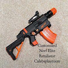 Nerf Elite Retaliator Customized I really like this paint job. #Nerf  #coolpic #nerfgun #nerfguns #Nerfnation #Nerfornothing #nerfwar #nerfwars  #nerfblaster ...