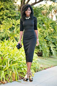 Black Diamond Print Midi Dress Style Pantry waysify