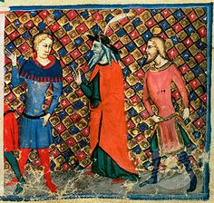 Merlin Tutoring Arthur c. 1352 Italian School (14th C.)(- ) Vellum British Library, London, England