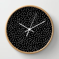 White dots wall clock ♥