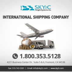 #Ship Anything, Anytime, Anywhere. Contact #Sky2c #International #Shipping Company.