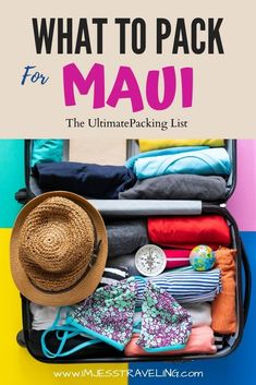 This is the ultimate packing list for Maui. Find out what items to not leave home without and what you can get once your in Maui. Packing guide | Hawaii packing list | Maui | Hawaii Packing List For Travel, Packing Tips, Time Travel, Travel Guide, Hawaii Travel, Travel Usa, Hawaii Honeymoon, Maui Hawaii, Travel Essentials
