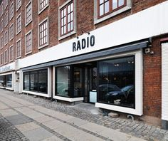 :: RESTAURANTS:: Collaborating with graphic designer Christina Meyer Bengtsson, the young Danish design firm Holmback Nordentoft have imbued the interiors with an equally local sensibility. Love the simple exterior of Copenhagen's Restaurant Radio. #restaurants