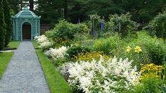 The Walled Garden is beautiful in June! Old Westbury Gardens, Walled Garden, Castles, Sidewalk, June, America, Mansions, Beautiful, Fenced Garden