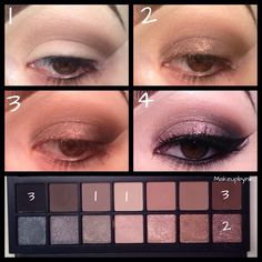 Step by step using the full exposure palette from smashbox #makeupbynik