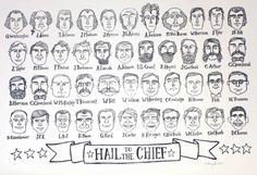 """""""Hail to the Chief"""" - drawings of the heads of every president. Talented artist!"""
