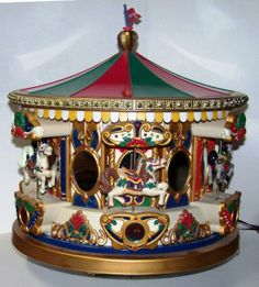 Christmas Carousel Music Box