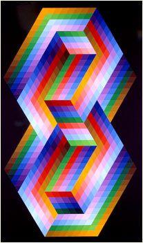 Victor Vasarely - Rugo - 1978 //  Art Experience NYC  www.artexperiencenyc.com