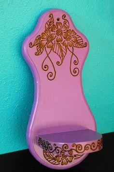 Purple Floral Henna Shelf