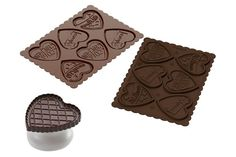 Forma do herbatników serca w czekoladzie LOVE SILIKOMART CKC06