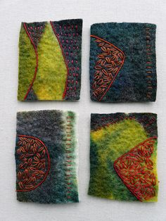 Hand-stitched felt by Fiona Rainford aka Fi@84, via Flickr