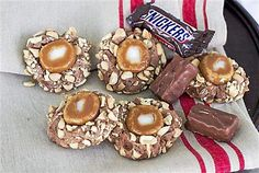 Caramel Peanut Thumbprints: A holiday cookie inspired by Snickers candy bars