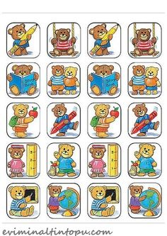 Teacher Created Resources School Bears Stickers, Multi Color 120 Self-Adhesive stickers per pack. Great for incentives and decorations. Kindergarten Crafts, Kindergarten Classroom, School Classroom, Google School, Bon Point, Teacher Created Resources, Kids Stickers, Album, Play To Learn