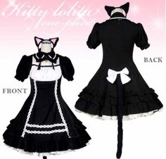 Cat Girl Maid Outfit ~ SIZE L $68.00 http://thingsfromjapan.net/cat-girl-maid-outfit-size-l/ #cute cat item #kawaii cat item #costume #cosplay #Japanese costume