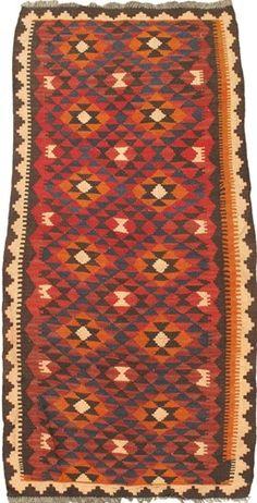 "3'4"" x 7'1"" Afghan Shiravan Kilim"