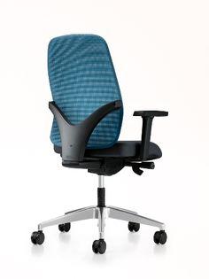 Interstuhl Geos Bureaudraaistoel Geos 15G2, 17G2 Een top stoel met 7 jaar garantie voor een extreem lage prijs! Geos is er in twee uitvoeringen: volledig gestoffeerd of met netbespannig. Beide varianten bieden een hoog comfort en veel ergonomische opties. Geos is voordelig, modern, eenvoudig en tijdloos. Office Chairs, Office Furniture, Office Set, Chair Design, Simple, Home Decor, Decoration Home, Room Decor, Interior Design