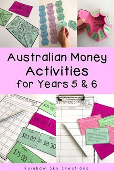 Check out these hands-on engaging Australian money learning activities for Year Money Activities, Teaching Activities, Hands On Activities, Teaching Math, Social Studies Resources, School Resources, Teaching Resources, Teaching Ideas, Australian Money