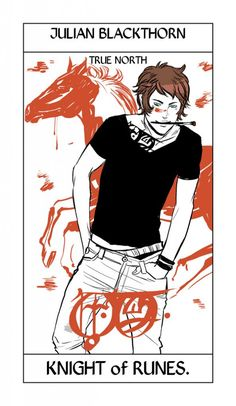 Drawn by Cassandra Jean ...   julian 'jules' blackthorn,  tarot card, the dark artifices