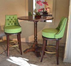 Designmaster Furniture's upholstered Harmony bar stools (03-618-30)