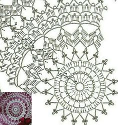 Agnes pattern by Zoya Matyushenko Crochet Throw Pattern, Crochet Mandala Pattern, Doily Patterns, Crochet Patterns, Crochet Dollies, Crochet Lace, Thread Crochet, Crochet Stitches, Lace Doilies