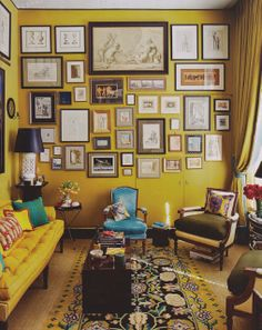 This has not been painted with the actual Cherished Gold but shows how great walls can look in a yellow ochre.