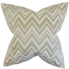 The Pillow Collection Eelia Zigzag Throw Pillow Cover Color: Straw
