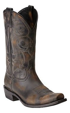 Ariat Men's Lawless Rustic Black Punchy Square Toe Western Boot   Cavender's