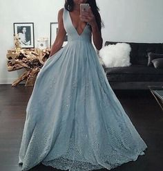 Lace Prom Dresses,Light Sky Blue Prom Dress,Modest Prom Gown,A Line Prom Gown,Lace Evening Dress,Evening Gowns,Lace Party Gowns