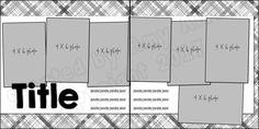 7 Photo Scrapbook Sketch