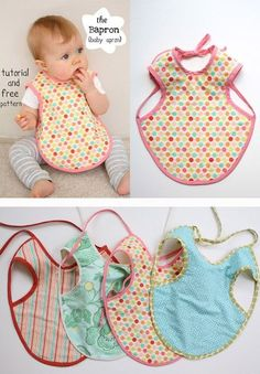 Adorable Baby Apron. Adorable, cute and easy to start with! This would be great gifts for newborns!