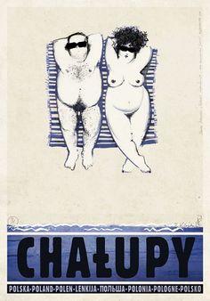 Chałupy, polski plakat turystyczny