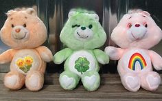Care Bears I had Good Luck Bear, Cheer Bear and Gentle-Heart Lamb, my mom had Sunshine Bear, my sister had Grumpy Bear.