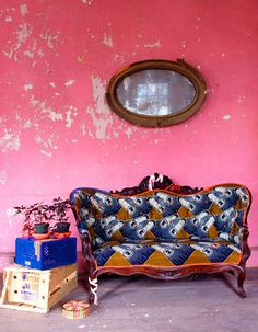 funky print couch