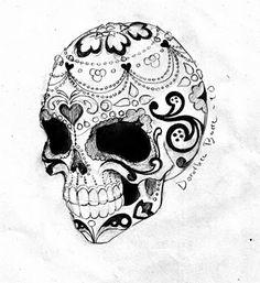 New School Skull Tattoo Design Sugar Images Designs