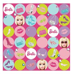 Barbie All Doll'd Up Gift Wrap - Includes (1) package of gift wrap.