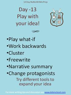 Day -13 NaNoWriMo Prep – Creative Writing Tools