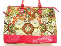 Paisley over shoulder tote...look for matching wallet - Dos'Staggio Boutique---dosstaggio.aradium.com