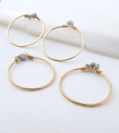 Raw Diamond Gold Stacking Rings - Set of 4 | Jewelry Rings | Violetfly | Scoutmob Shoppe | Product Detail