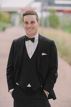Classic groom idea - groom in classic black tuxedo {Christy Wilson Photography}